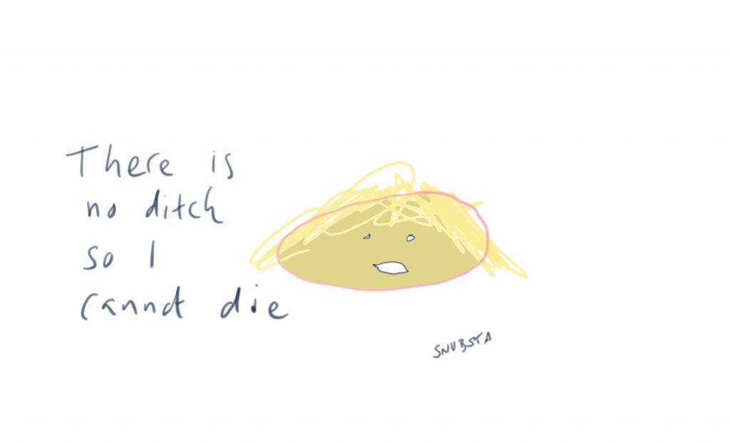 There is no ditch