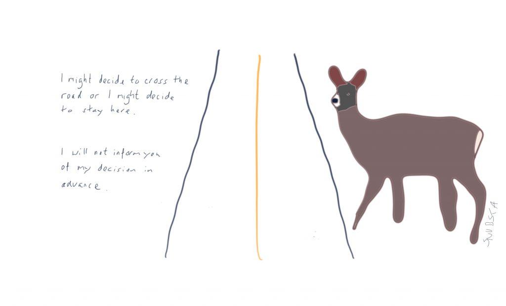 Deer crossing?